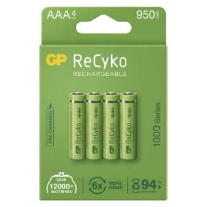 GP ReCyko HR03 (AAA) 950 mAh, 4 ks