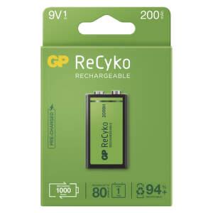 GP ReCyko 9V 200 mAh, Batéria