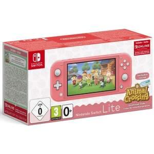 Nintendo Switch Lite Coral + kód na hru Animal Crossing: New Horizons + 3M NSO