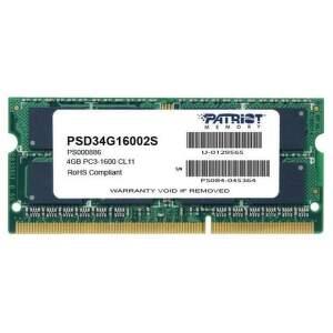 Patriot Signature Line PSD34G16002S DDR3 1x 4 GB 1600 MHz CL11 1,50 V