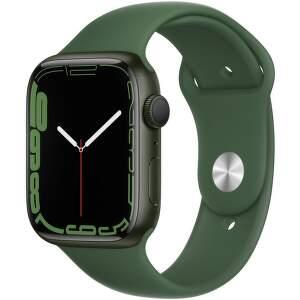Apple Watch Series 7 45 mm zelený hliník s ďatelinovo zeleným športovým remienkom