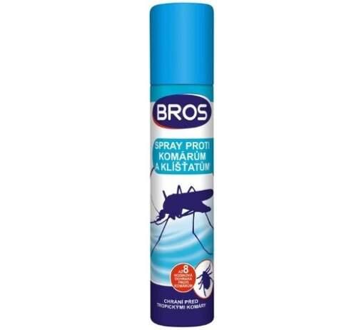 Bros Sprej proti komárom a kliešťom 90 ml (modrý)