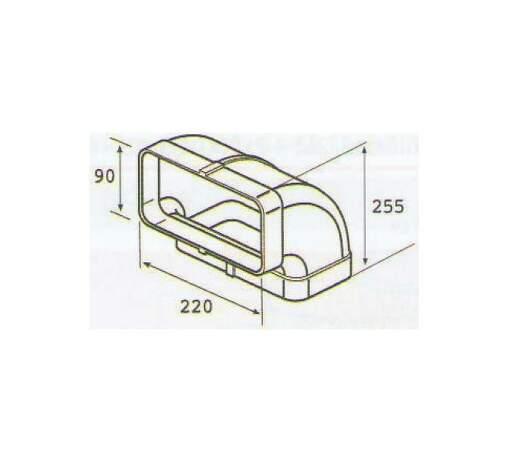 ELICA 1053 S, plastove rozvody 150mm