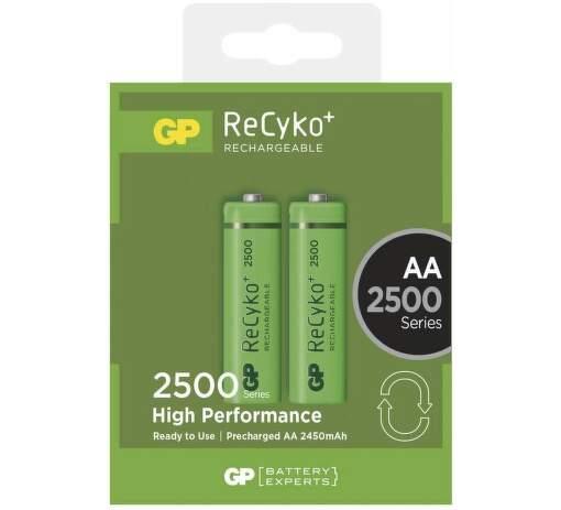 GP ReCyko+  HR6 (AA) 2500 mAh, 2 ks
