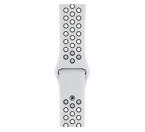 Apple Watch 44 mm Nike športový remienok S/M a M/L, platinový/čierny