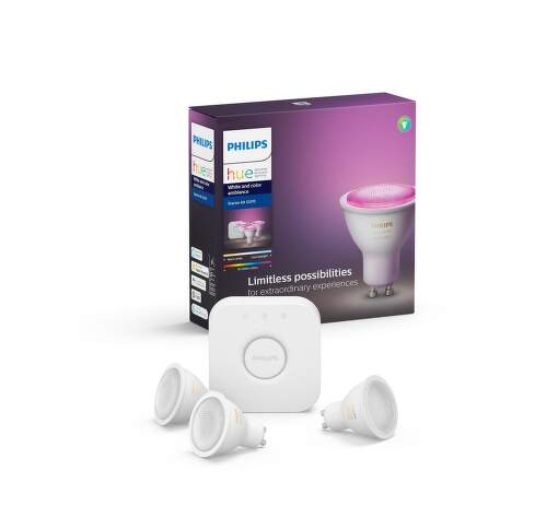 Philips Hue White and Color ambiance 5.7W GU10 starter kit