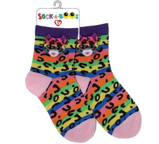 TY 95805 leopard DOTTY detské ponožky