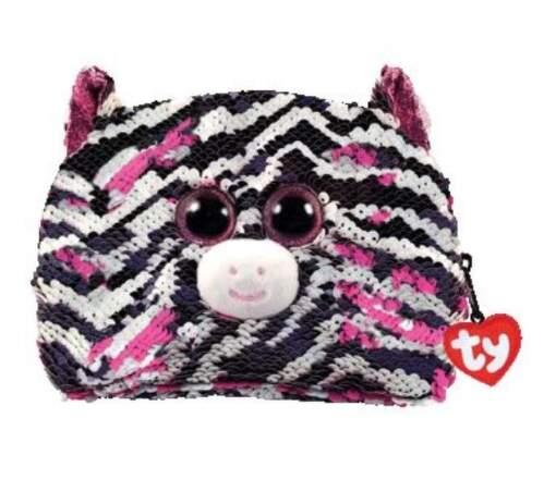 TY 95822 zebra ZOEY detská flitrovaná taštička
