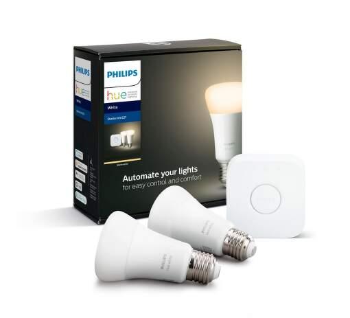 Philips Hue White 9W E27 malý starter kit
