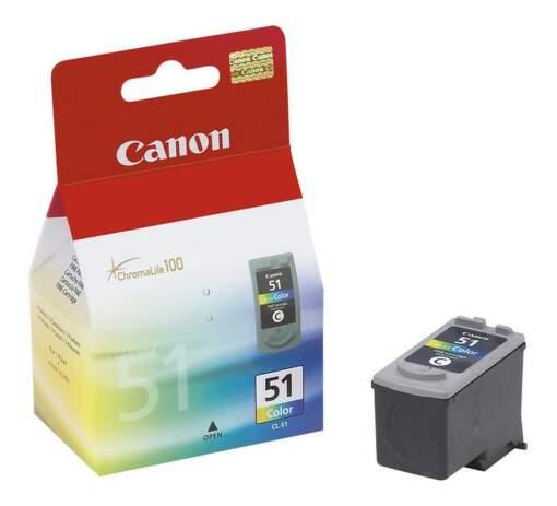 CANON CL-51, Colour Ink Cartridge, BL SEC