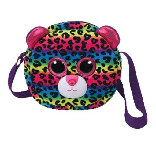 TY 95104 viacfarebný leopard DOTTY detská taška cez rameno