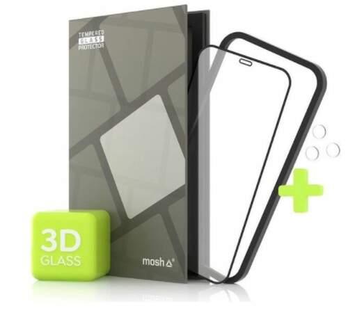 Tempered Glass Protector 3D ochranné sklo pre Apple iPhone 12 Pro Max + sklo na kameru čierna