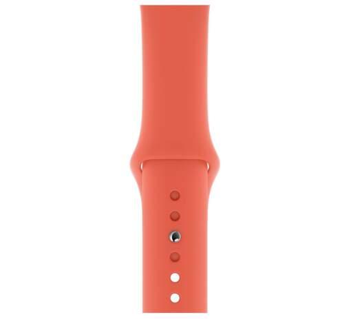 Apple Watch 44 mm športový remienok S/M a M/L, mandarínkový