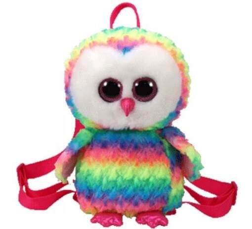 TY 95003 viacfarebná sova OWEN detský batoh