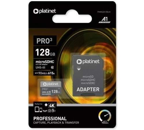 Platinet microSDXC 128GB PMMSDX128UIII čierna