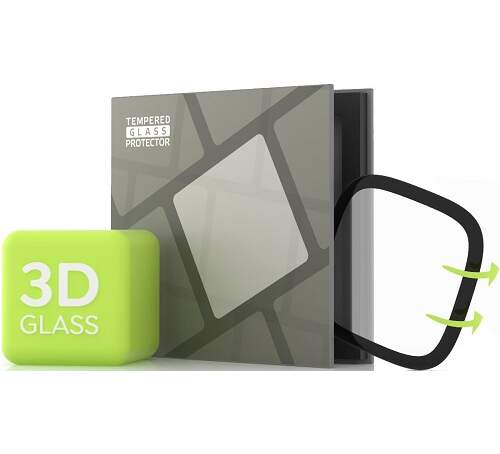 Tempered Glass Protector 3D tvrdené sklo pre Fitbit Versa 3/Sense čierna