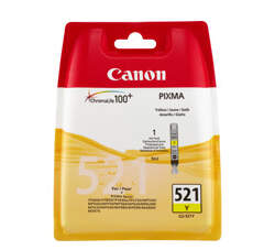 CANON CLI-521Y, YELLOW Ink Cartridge, BL SEC