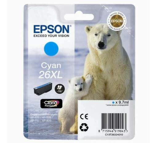 EPSON EPCST26324020 CYAN cartridge