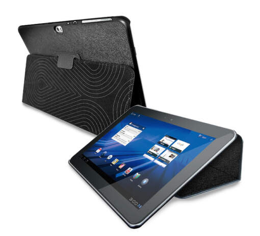 """PURO COVER + CASE GALAXY TAB 8,9"""" w/stand up ECO-LEATHER BLACK"""