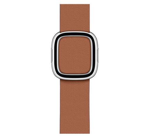 Apple Watch 40 mm kožený remienok s magnetickou prackou stredný, sedlovo hnedý