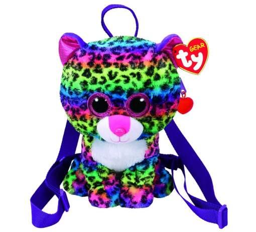 TY 95004 viacfarebný leopard DOTTY detský batoh