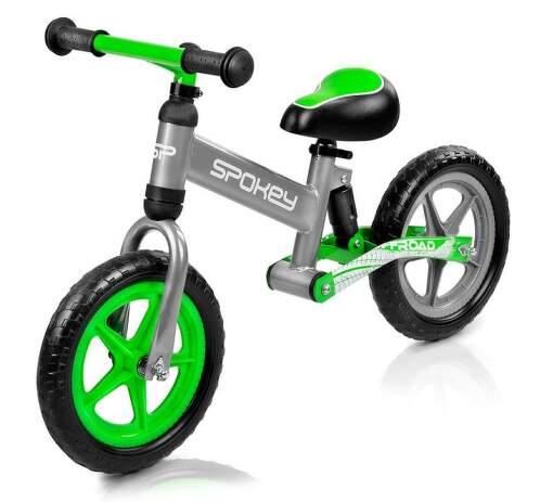 Spokey OFF-ROAD detské odrážadlo sivo-zelené.1